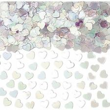 Iridescent Hearts Table confetti sprinkles Party Table Decorations Wedding ++