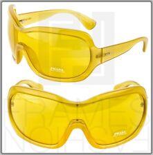 PRADA Illusion Oversized Shield PR05OS Nude Yellow GAD-9V1 Sunglasses SPR 05O
