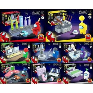 8Pcs/Set Among Us Game Model Building Blocks Toys Kit Classic figurine Kids Gift