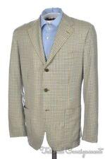 KITON Colorful Plaid Check 100% CASHMERE 2 Vent Blazer Sport Coat Jacket - 40 S