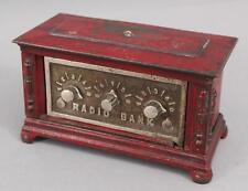 Antique KENTON Co Cast Iron RADIO BANK Combination Safe Still Bank, NR
