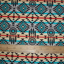 Cotton Fabric Native American Dream Catchers Spirit Southwest on Gray  BTY