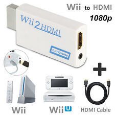 EEEKit Wii To HDMI 720P 1080P Converter Adapter Full HD Video + HDMI Cable 5.9ft