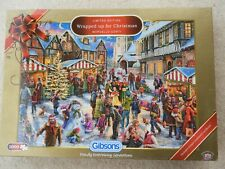 Gibson's 1000 piece Christmas jigsaw, Wrapped up for Christmas, exc condition