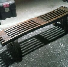 Antique teak bench