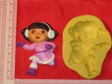 Dora the Explorer Silicone Mold Candy Cake pop Chocolate Resin Clay A741