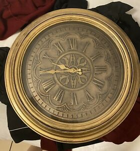 large wall clock gold/ Brass