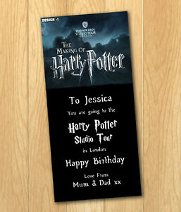 Harry Potter Studio Tour Gift Ticket Personalised