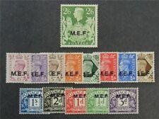 nystamps Great Britain Offices Abroad Africa Stamp # 1-9 J1-J5 Mint Og H $34