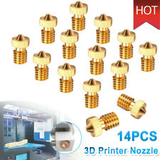 14x 7 Sizes 3D Printer Extruder Brass Nozzle Print Head for E3D Makerbot M6 Fast