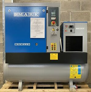 New Mark MSM11D Receiver Mounted Rotary Screw Compressor + Dryer! 50Cfm, 11KW!