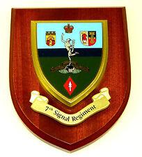 7TH SIGNAL REGIMENT ROYAL CORPS OF SIGNALS HAND MADE REGIMENTAL MESS PLAQUE