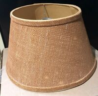 Vintage Lampshade Burlap mid century