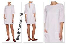 NEW $268 Equipment  White Aubrey Broderie Anglaise Cotton Mini Dress [Sz:M] #B82