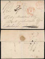 SCOTLAND 1822 CROWNED INSPECTORS MARK...PERTH FORWARDED to EDINBURGH