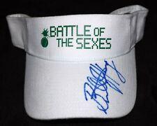 BILLIE JEAN KING Hand Signed BATTLE OF THE SEXES Tennis Visor Hat + Proof Photo