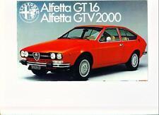 ALFA ROMEO Alfortville GT 1.6 & GTV6 2000 SALES BROCHURE maggio 1976