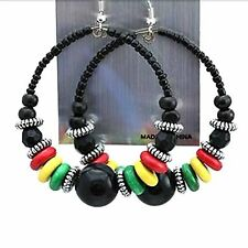 Jamaica Rasta Irie Earring Marley Reggae Jamaica Empress Royalty Hook Style NEW