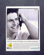 [GCG] K288- Advertising Pubblicità -anni '90- ERICCSON ALL RIGHT