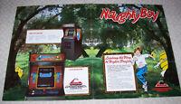 NAUGHTY BOY Arcade FLYER Original Promo Video Game Art Sheet 1982 Cinematronics
