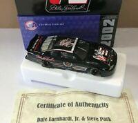 Dual Hand Signed Dale Jr Steve Park 2002 Dale Earnhardt Sr Legacy Diecast W/ COA
