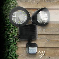 Security Detector Solar Spot Light Motion Sensor Outdoor 22 LED Floodlight Lamp Black