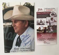 Colonel Tom Parker Signed Autographed 4 x 6.5 Photo JSA Certified Elvis Presley