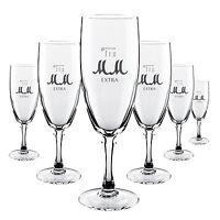 6 x M&M Sekt Glas / Gläser sehr edel Gastro Bar Deko NEU