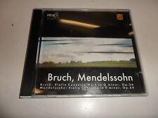 CD violin concertos de Max rupture et Mendelssohn