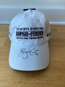 Roger Federer Signed Autographed Hat The NETJETS Showdown Sampras - NEW