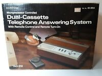 Radio Shack Duofone TAD-312 Dual Cassette Telephone Answering System with box