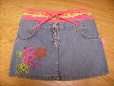 Gonna Bambina Barbie anni 7 8 Jeans e Fuxia Euro 32 50