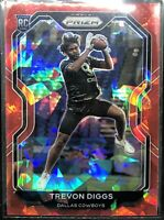 Trevon Diggs Rookie 2020 Prizm Red Cracked Ice Parallel Cowboys RC