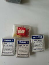 Moore Map Tacks And Map Flags Lot Vintage