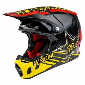 *FREE SHIPPING* FLY RACING FORMULA CC ROCKSTAR HELMET BLACK/RED/YELLOW
