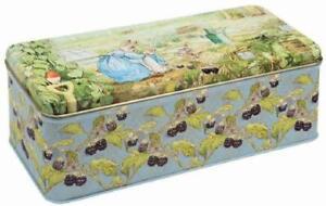 Beatrix Potter Peter Rabbit Long Rectangular Tin Kitchen Storage Container