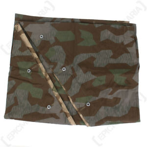 Splinter Zeltbahn - WW2 Repro German Shelter Basha Army Camouflage Military New