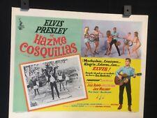 """1965 Elvis Presley TICKLE ME Original Mexican Lobby Card Movie Art 14""""x11"""""""
