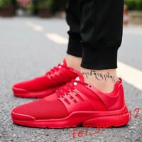 Men's Fashion Comfortable Running Trainers Flat Sneakers lace Up Sports Shoes