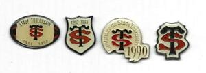 Pin's rugby Stade Toulousain Toulouse Lot de 4 pin's