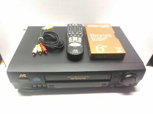 JVC HR-VP674U VCR VHS 4Head Hi-Fi Stereo w/ OEM REMOTE, AV Cables & Blank Tape