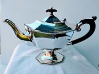 Stunning Victorian Antique Teapot 2 Persons C.1875 Quality Silver Plate