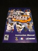 MLB SlugFest 2006 (Sony PlayStation 2, 2006) Manual/Booklet Only SHIPS FREE!!!