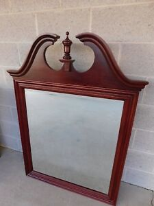"Colonial Furniture Chippendale Style Cherry Wood Mirror 49.5""H x 37""W"