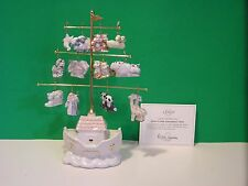LENOX NOAH'S ARK ORNAMENT TREE set with 12 Ornaments NEW in BOX with COA