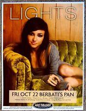 LIGHTS Valerie Poxleitner POSTER 2010 Gig Portland Oregon Concert