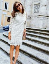 BODEN floral lace dress size 16 long ivory colour WW132