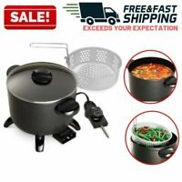 Electric Deep Fryer Multicooker Steamer Kettle Tabletop Home Restaurant Kitchen
