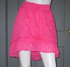 AEROPOSTALE juniors pink PEASANT skirt boho hi low XS lined EUC