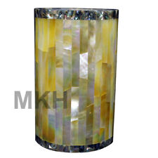 Italian Marble Flower Vase Inlay Gems Stones Home Decor Plant Vintage Marquetry